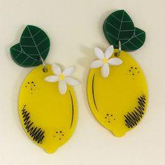 Peppy Chapette Lemon Blossom Earrings Lemon Blossoms, Lemon Yellow, Bold Fashion, Stitch Fix, Christmas Ornaments, My Style, Holiday Decor, Brooches, Pattern