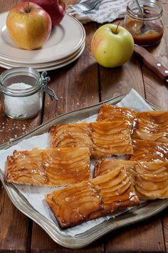 Tarte fine aux pommes caramélisées1