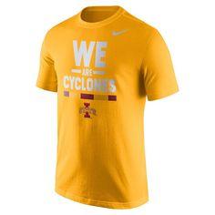 Men's Nike Iowa State Cyclones Local Verbiage Tee, Size: Medium, Gold