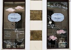 window display design - Love turns you upside-down & inside-out