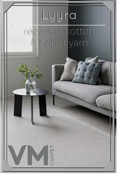 Lyyra is Finnish for a lyre, perfectly describing the subtle and soft elegance of this rug. The combination of both paper yarn and recycled cotton give this rug a beautiful, sophisticated surface. Bring some charm and Scandinavian style to your living space with this rug.