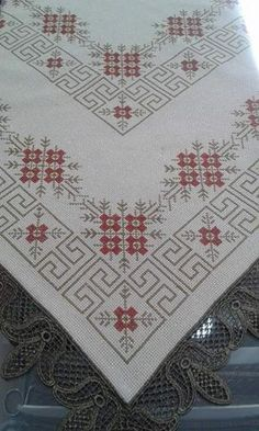 This Pin was discovered by Reh Cross Stitch Borders, Cross Stitch Designs, Cross Stitching, Cross Stitch Embroidery, Hand Embroidery, Cross Stitch Patterns, Embroidery Patterns Free, Crochet Patterns, Palestinian Embroidery