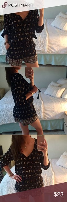 NWT Windsor Black Floral Romper Size: Small with tags. Great condition. WINDSOR Dresses Mini