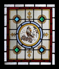 love birds and stained glass-both together-better