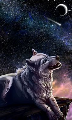 Black wolf by WolfRoad on DeviantArt Anime Wolf, Beautiful Wolves, Animals Beautiful, Wolf Artwork, Wolf Painting, Fantasy Wolf, Wolf Wallpaper, Wolf Love, Wolf Pictures