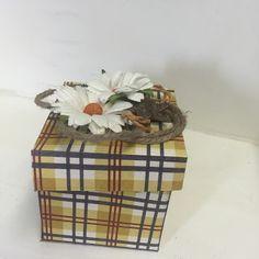 Hobbygarasjen utfordringsblogg : Inspirasjon til rustikk Decorative Boxes, Home Decor, Homemade Home Decor, Decoration Home, Decorative Storage Boxes, Interior Decorating