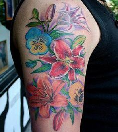 size, but more variety of flowers. I like the idea of pansies. I love the orange lily