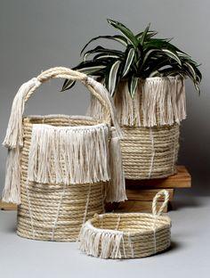 Philadelphia artist Karen Tinney's rope baskets