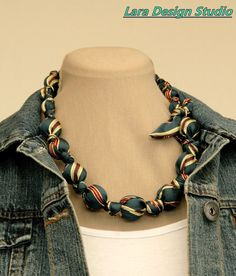 recycled tie necklace