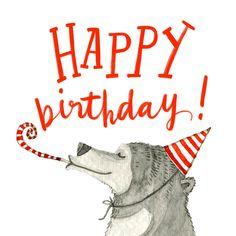 Beary happy - Happy Birthday Card  #greetingcards #printable #diy #birthday