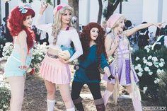 Pokemon Trainer Cosplay, Disney Princess Cosplay, Ariel Dress, Disney Pictures, Studio Ghibli, Rapunzel, The Little Mermaid, Trainers, Sleeping Beauty