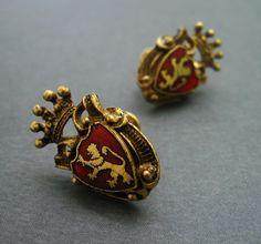 """""""Lannister"""" Lion Vintage Earrings #GoT #asoiaf"""