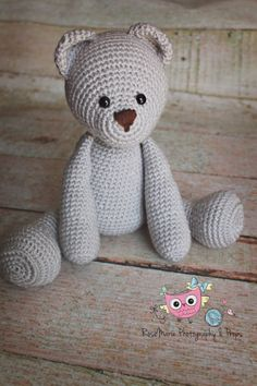 Made to order Crochet teddy bear doll by RoseMariePhotoProps, $45.00