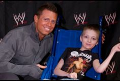 The Miz and a young fan.