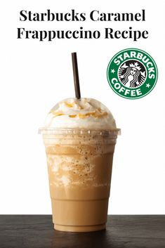 This is my copycat version of the smooth and creamy Starbucks Caramel Frappuccino. As much as I love treating myself to a Starbucks, those weekly visits can start to add up. This recipe fills all my caramel cravings at a fraction of the cost. Starbucks Caramel Frappuccino, Caramel Frappe Recipe, Café Starbucks, Homemade Frappuccino, Starbucks Frappe Recipe, Homemade Starbucks Recipes, Starbucks Flavors, Frappachino Recipe, Dessert