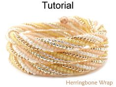 Twisted Tubular Herringbone Beaded Memory Wire Wrap Bracelet Beading Pattern Tutorial | Simple Bead Patterns