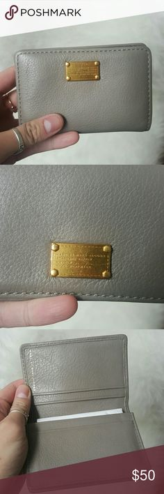 Marc by marc jacobs card wallet Grey taupe card wallet holder. Marc jacobs mbmj card case wallet mini id cards   W gold hardware. Good condition! Marc by Marc Jacobs Bags Wallets