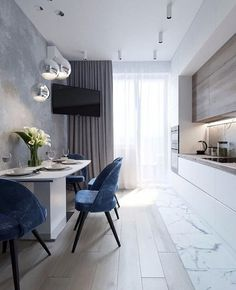 Kitchen Room Design, Home Room Design, Modern Kitchen Design, Dining Room Design, Home Decor Kitchen, Interior Design Kitchen, Diy Kitchen, Kitchen Ideas, Small Apartment Interior