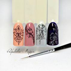Fails Art Easy Mandala 47 Ideas For 2019 Henna Nails, Gel Nails, Acrylic Nails, Nail Polish, Nail Art Arabesque, Nail Drawing, Mandala Nails, Gel Nagel Design, Simple Mandala