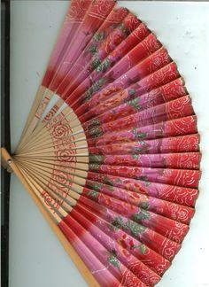 Vintage Ladies Paper Fan