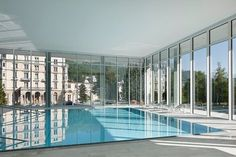 OVAVERVA indoor swimming pool spa and sports centre St. Moritz, San Maurizio, 2014 - Bearth & Deplazes Architekten, Morger + Dettli Architekten