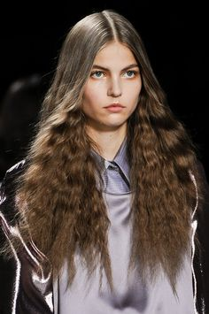 Loose Fuzzy  Hair Style Trend for Spring Summer 2013.  Viktor & Rolf  Spring Summer 2013.     #hair  #trends