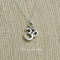 Om Necklace Om Jewelry Ohm Necklace Yoga Jewelry New Age Jewelry. $20.00, via Etsy.