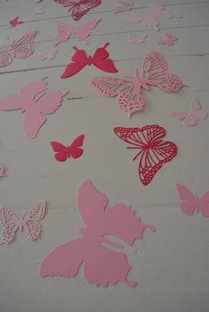 3D Muurvlinders gemaakt van card stock in 3 Roze door SierGoed