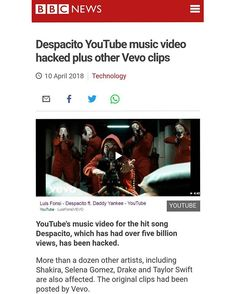 """More than a dozen artists including Selena Gomez Shakira Drake Taylor Swift Luis Fonsi are also affected. The original clips had been posted by Vevo.  The hackers calling themselves Prosox and Kuroi'sh had written """"Free Palestine"""" underneath the videos.  Several of the clips remain live at time of writing.  Of those the actual video content itself appears to be unaltered. Many titles have been changed to include the names of the hackers but only some feature the replaced cover image.  A…"""