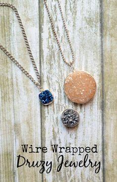 One Artsy Mama - http://www.oneartsymama.com/2015/01/wire-wrapped-druzyjewelry.html