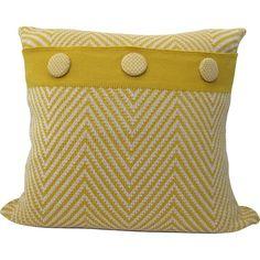 Handmade Knit Cushion - Ziggy in Mustard and StoneThe Block Shop - Channel 9