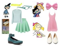 """Hey Arnold, Phoebe and Helga"" by senpaikohaii ❤ liked on Polyvore featuring Glam Bands, Vera Bradley, American Vintage, Dansko, Glamorous, Charlotte Olympia and tbt"