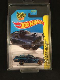 2014 Hot Wheels HW Off Road Treasure Hunt CUSTOM 71 EL CAMINO Blue w/ PROTECTO #HotWheels #Chevrolet