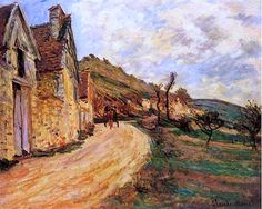 Claude Monet - Les Roches at Falaise near Giverny, 1885