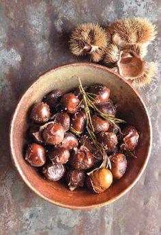 Roasted Chestnuts | Edible Feast via Edible Michiana #ediblekitchen #edibleseasons #ediblewinter