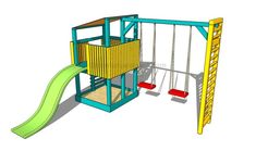 This step by step woodworking project is about free playhouse with porch roof plans. This is PART 2 of the outdoor playhouse project, where I show you step by step plans for building the roof of the and the porch. Playset Diy, Backyard Playset, Wooden Playset, Build A Playhouse, Playhouse Outdoor, Outdoor Playset, Playhouse Kits, Simple Playhouse, Outdoor Forts