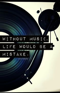 "Printable - Inspirational Quote Art - ""Without music, life would be a mistake."" - Neitzsche. $8.00, via Etsy."