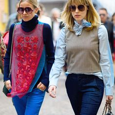 Sheer Top & Turtleneck - Repurpose dainty sheer blouses for the day by layering over a clingy, lightweight knit.