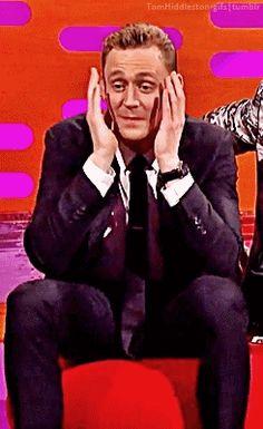 Tom Hiddleston on The Graham Norton Show - May 6, 2016. Gif- set (by tomhiddleston-gifs.tumblr): http://tomhiddleston-gifs.tumblr.com/post/144002181359/x