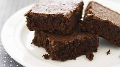 Claire Burnet's delicious brownies are crispy on the outside, soft and gooey inside.