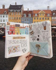 Art Journal Pages, Journal D'inspiration, Art Journal Challenge, Art Journal Prompts, Bullet Journal Books, Art Journal Techniques, Bullet Journal Spread, Scrapbook Journal, Bullet Journal Layout