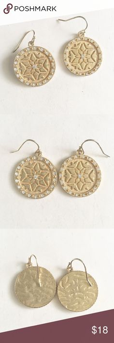 Gold Medallion Earrings Gold medallion earrings. Very nice quality. Has some weight to it. Jewelry Earrings