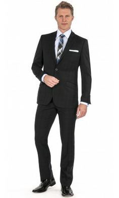 Parc 81 'Kelso' Windowpane Slim Fit Suit - Navy #suit, #bachrach, #menswear, #mensfashion, #menswear