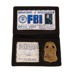 FBI Badges ❤ liked on Polyvore featuring supernatural, accessories, fillers, extras and criminal minds