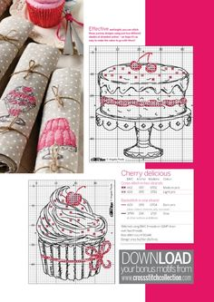 Gallery.ru / Фото #48 - Cross Stitch Collection 236 июнь 2014 - tymannost Cherry Delicious 2 of 3