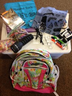 752a9970c04 Let's Go on a Hike Backpack at Mary Ann Beebe Center There are 3 backpacks  available