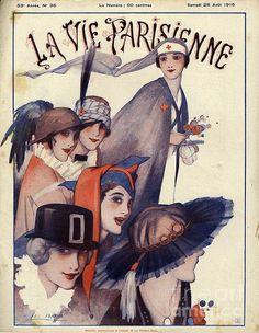 La Vie Parisienne 1915 France by The Advertising Archives French Magazine, Love Magazine, Magazine Art, Vintage Magazines, Vintage Ads, Vintage Posters, Vintage Vogue, French Posters, Poster Ads
