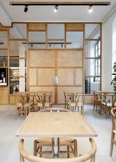 Bonanza Coffee Berlin- has the look i have in mind. Plywood?