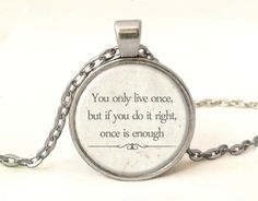 QUOTE Necklace, Quote Pendant, 0222POS from EgginEgg by DaWanda.com