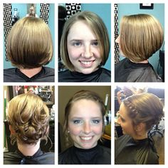 Short hair updo- I like it but with a little more bump on top maybe?